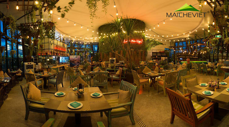 Mái che quán bar Skylight Nha Trang:  Hiên, sân thượng by Công ty TNHH Havico Việt Nam
