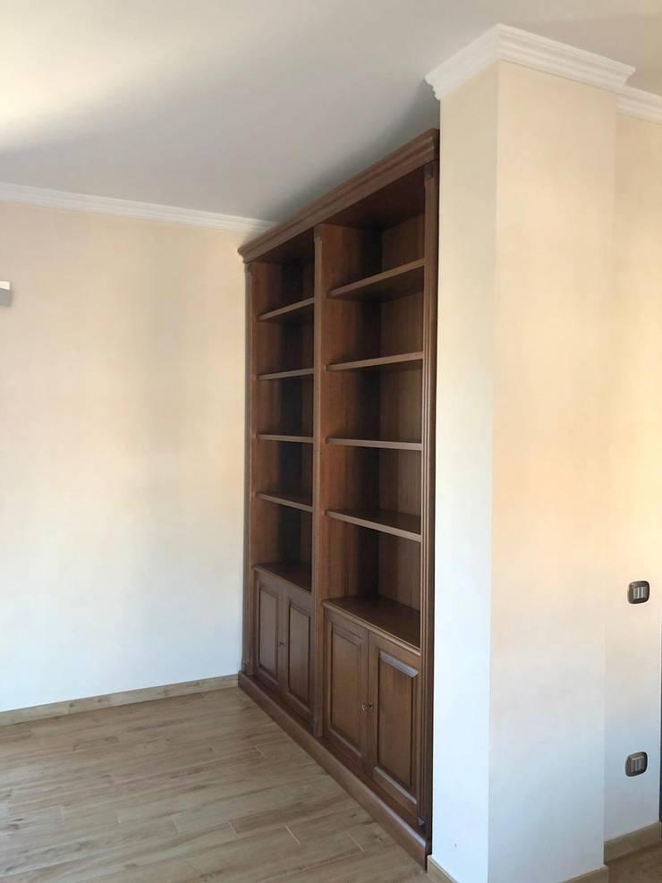 Librerie A Muro Su Misura.Libreria A Muro Librerie A Muro Su Misura Di Falegnameria Su