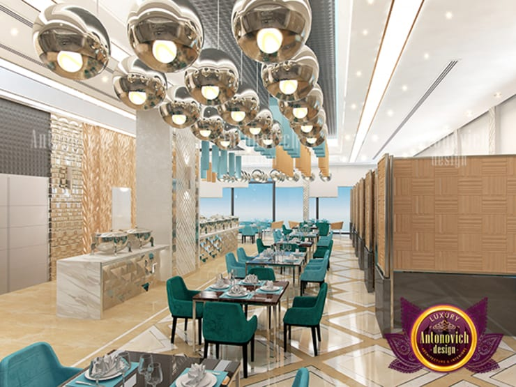 Majestic and Gorgeous Restaurant Interior:   by Luxury Antonovich Design