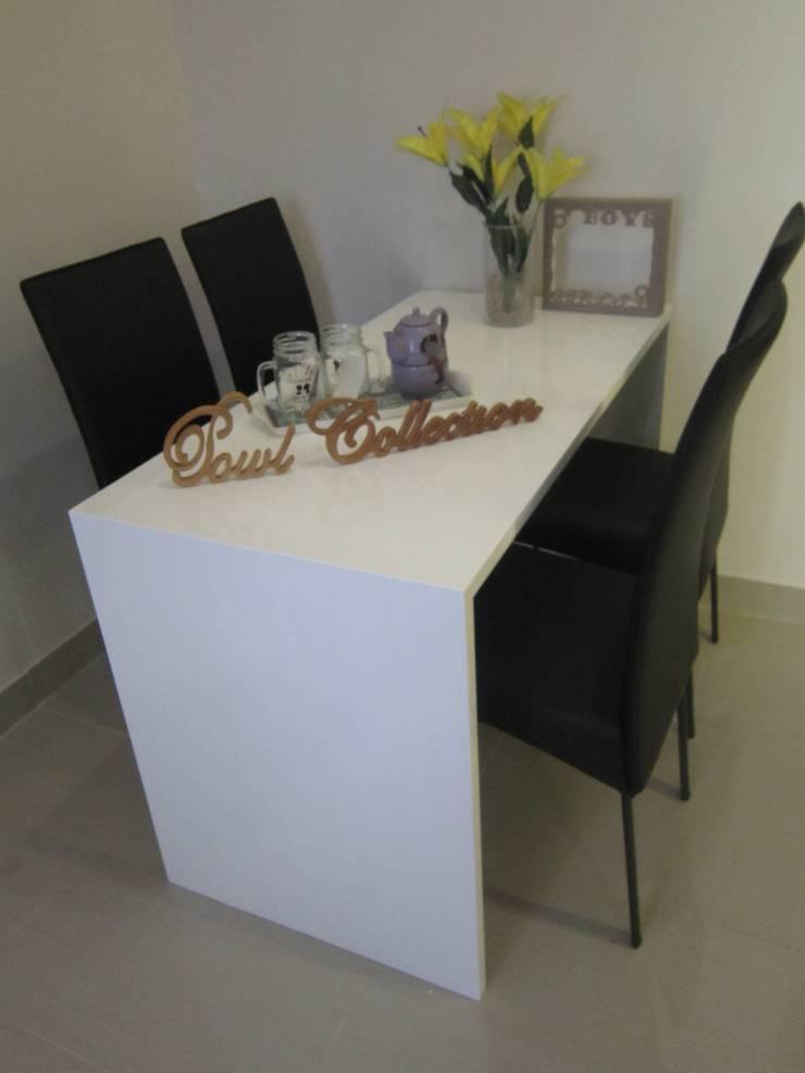Sudirman Suite Tipe Studio: Ruang Makan oleh POWL Studio, Minimalis