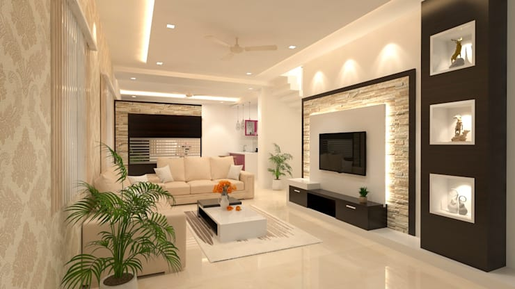 Interior Design of Residential :  Dining room by Maruthi Interio
