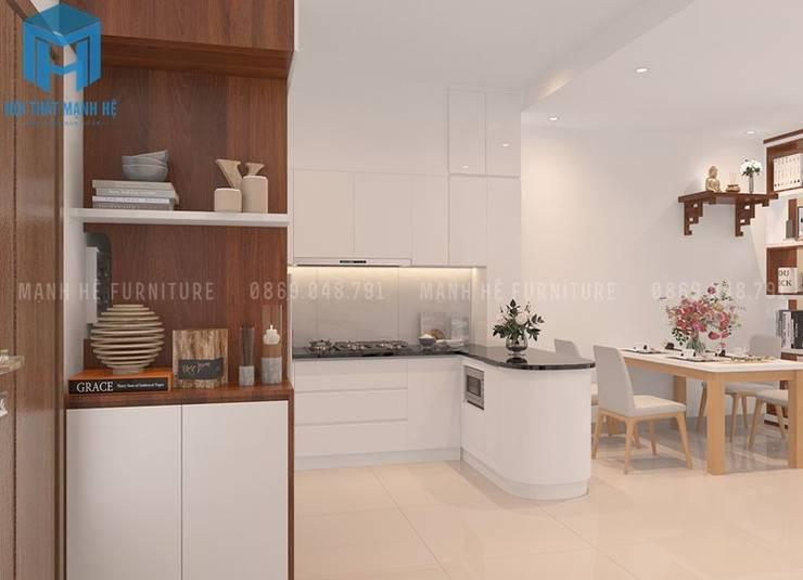 không gian phòng bếp :  Phòng ăn by Công ty TNHH Nội Thất Mạnh Hệ