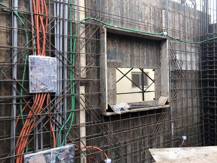 3F水電配管完成:   by 讚基營造有限公司