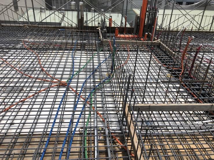 3F柱牆4F版灌漿完成:   by 讚基營造有限公司