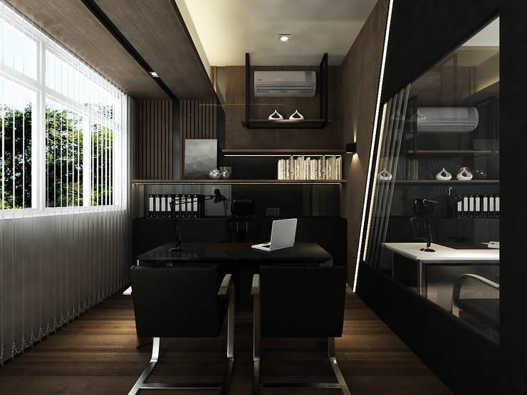 Office interior design in Cheras:  Offices & stores by Norm designhaus