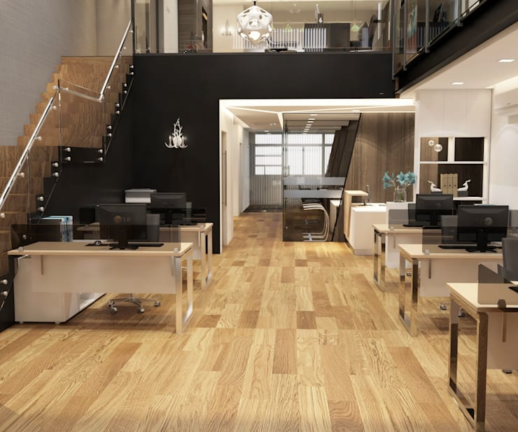 Office interior design in Cheras:  Office buildings by Norm designhaus