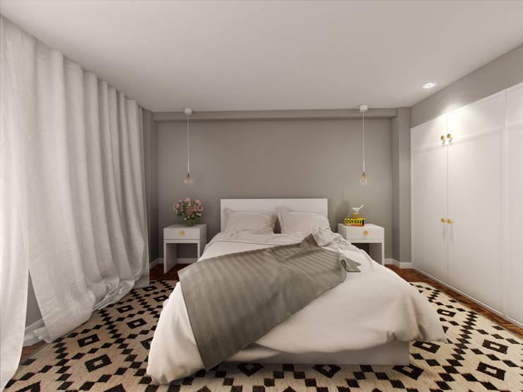 Suite: Quartos pequenos  por MIA arquitetos