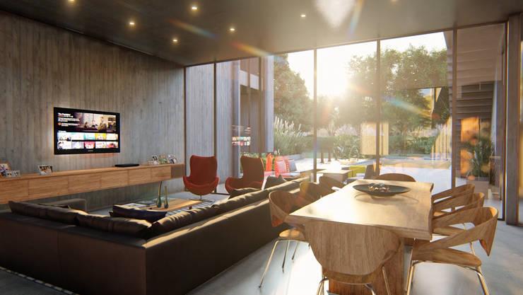 VIVIENDA UNIFAMILIAR Lomas de City Bell #251: Livings de estilo  por Arq Olivares,