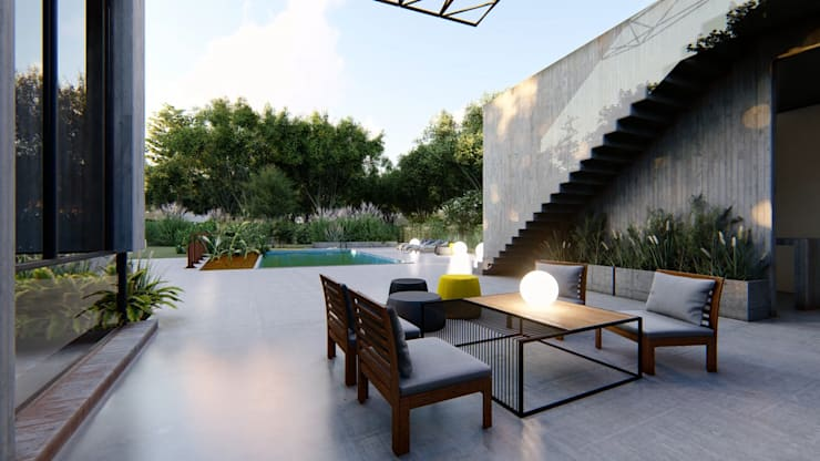 Terrace by Arq Olivares