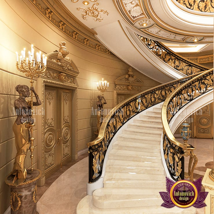 Extreme Luxurious Hall Interior Design by Luxury Antonovich Design