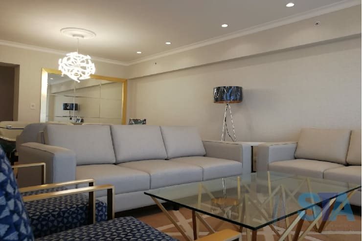 Modern Living Room by Soluciones Técnicas y de Arquitectura Modern Wood Wood effect