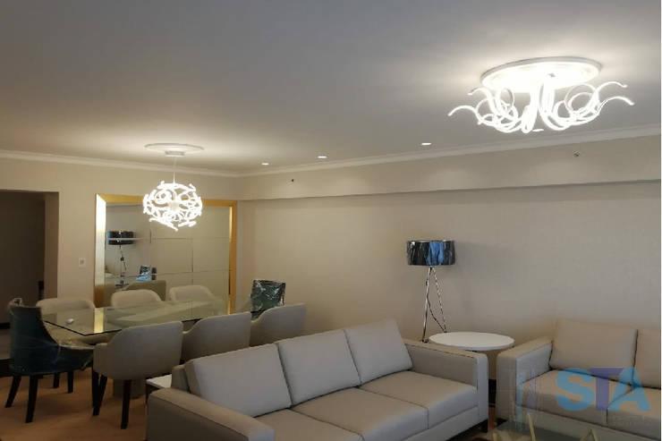 Salon de style  par Soluciones Técnicas y de Arquitectura