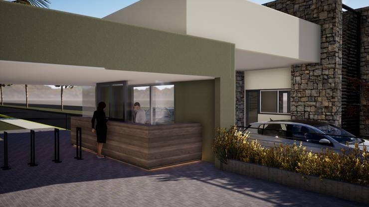 Condominios de estilo  por Gustavo Avila, arquitecto, Moderno Piedra