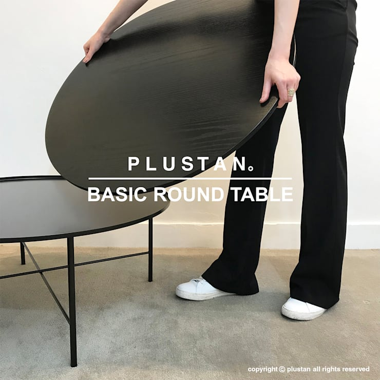 Basic Round Table: PLUSTAN. 플러스탠의  거실