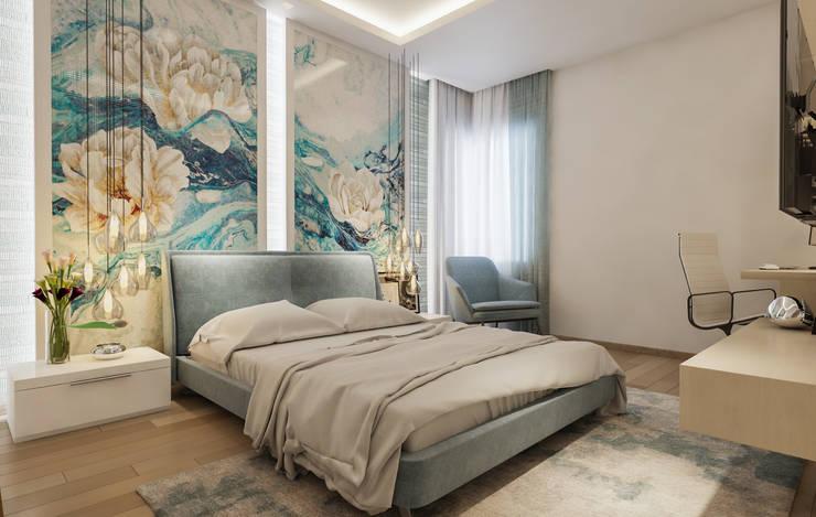 Daughter Bedroom:  Bedroom by De Panache  - Interior Architects,Modern