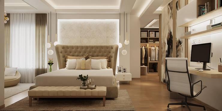 Master Bedroom:  Bedroom by De Panache  - Interior Architects,Modern