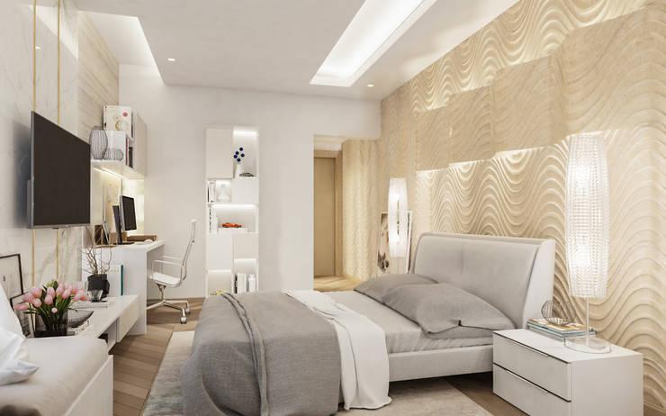Bedroom: modern  by De Panache  - Interior Architects,Modern