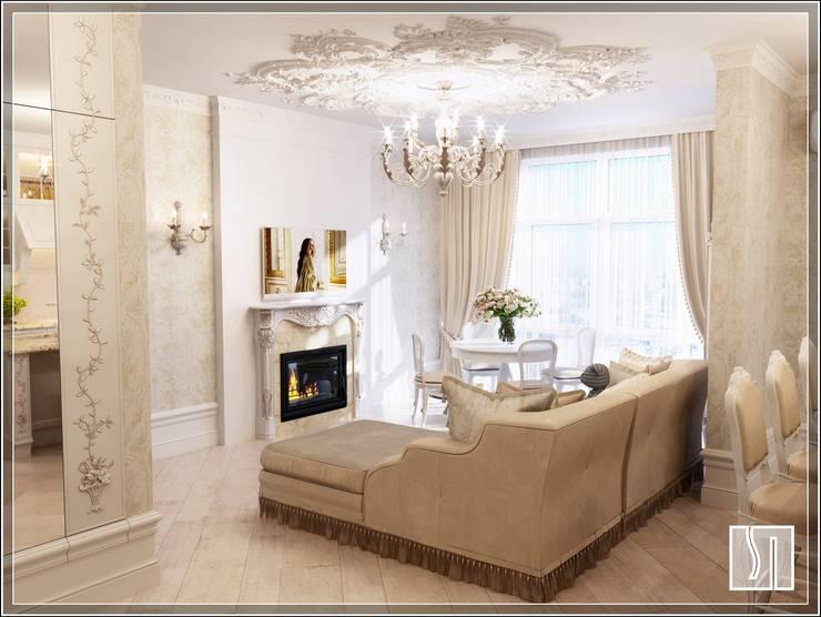 غرفة المعيشة تنفيذ Студия дизайна Светланы Исаевой