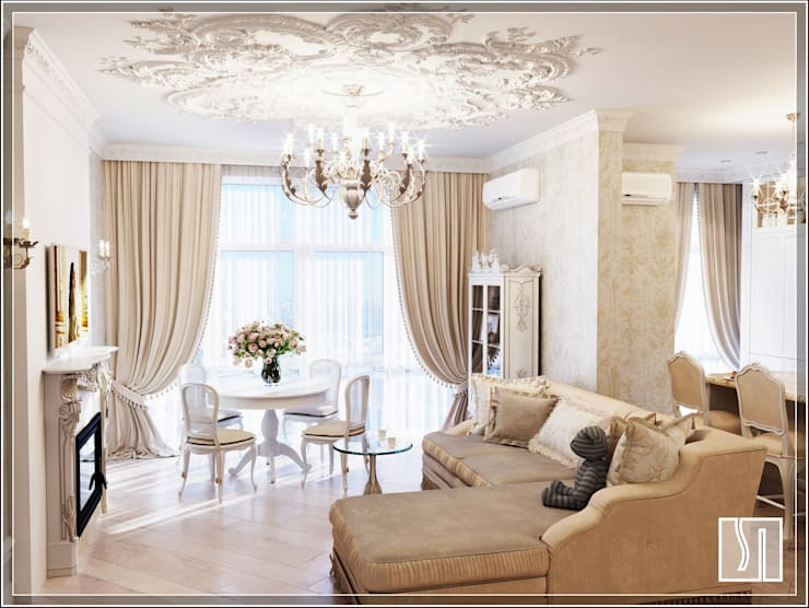 Projekty,  Salon zaprojektowane przez Студия дизайна Светланы Исаевой
