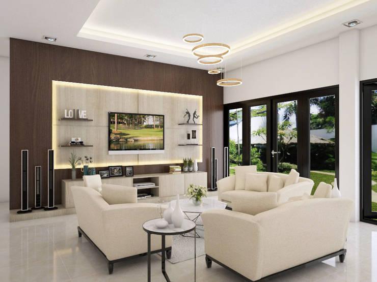 Ruang Keluarga:  Ruang Keluarga by PT. Leeyaqat Karya Pratama