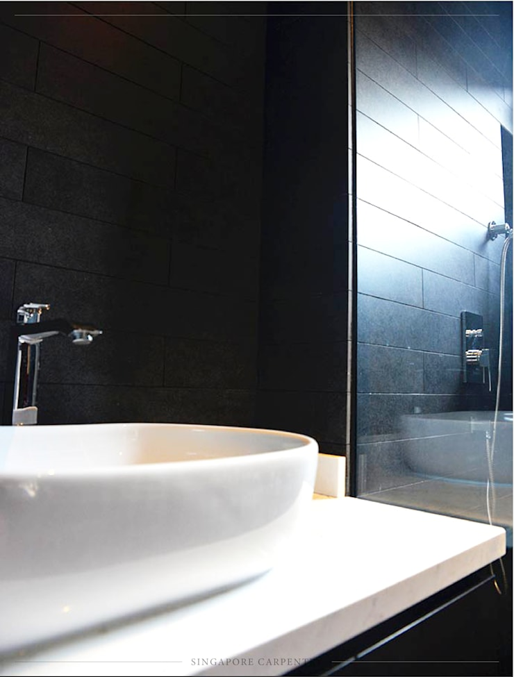 Industrial Design at Worthing Road:  Bathroom by Singapore Carpentry Interior Design Pte Ltd