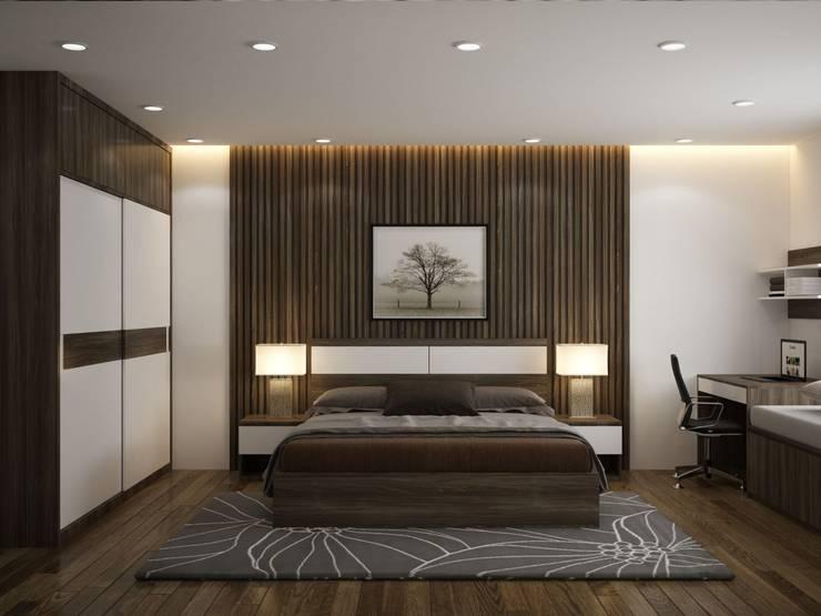 Tủ quần áo phòng ngủ Master:  Study/office by NỘI THẤT XLINE