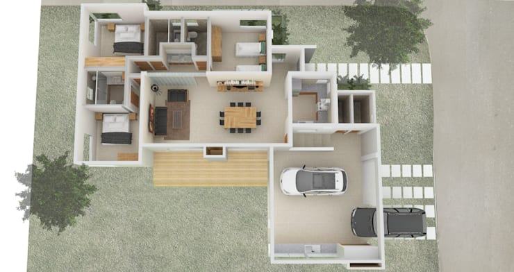 Vivienda Unifamiliar: Casas unifamiliares de estilo  por Arquitectura CH