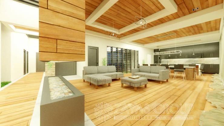 Sala comedor cocina: Salas de estilo  por Zayas Group