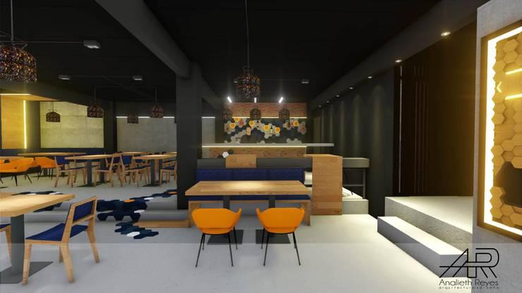 Mesas : Tiendas y espacios comerciales de estilo  por Analieth Reyes - Arquitectura y Diseño