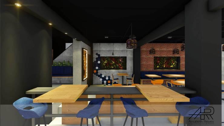 Jardín Vertical : Tiendas y espacios comerciales de estilo  por Analieth Reyes - Arquitectura y Diseño