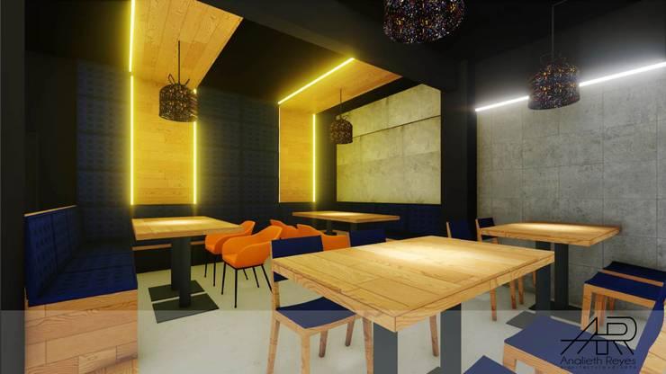 Mueble de Pared: Tiendas y espacios comerciales de estilo  por Analieth Reyes - Arquitectura y Diseño