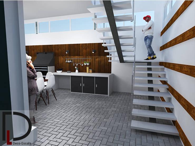 ESCALERA : Casas de estilo  por DECOESCALA ARQ JHON LEAL