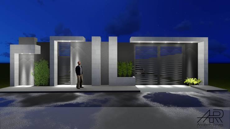 VISTA FRONTAL: Puertas de estilo  por Analieth Reyes - Arquitectura y Diseño