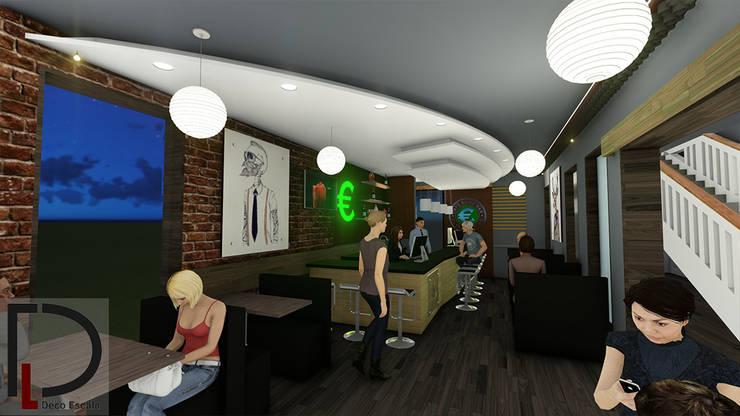 BARRA : Tiendas y espacios comerciales de estilo  por DECOESCALA ARQ JHON LEAL