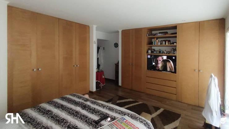 Dormitorio principal: Dormitorios de estilo  por RHA Arquitectura + Construcción