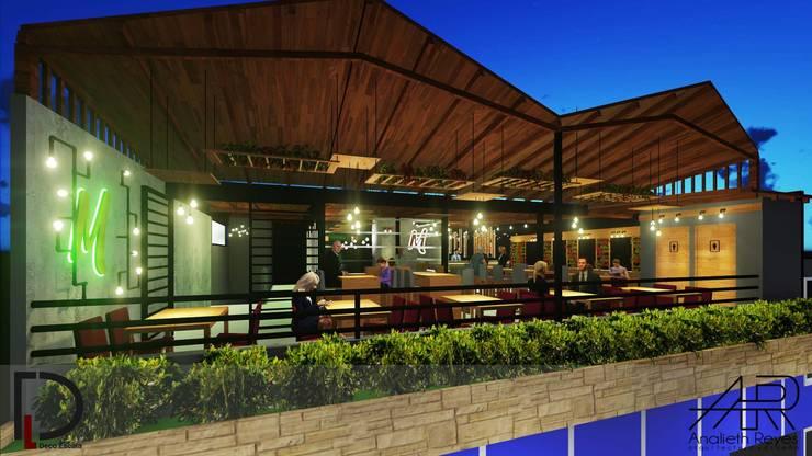VISTA LATERAL: Terrazas de estilo  por Analieth Reyes - Arquitectura y Diseño