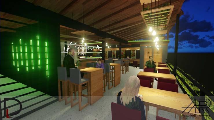 VISTA INTERNA: Tiendas y espacios comerciales de estilo  por Analieth Reyes - Arquitectura y Diseño