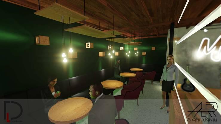 ÁREA VIP: Tiendas y espacios comerciales de estilo  por Analieth Reyes - Arquitectura y Diseño