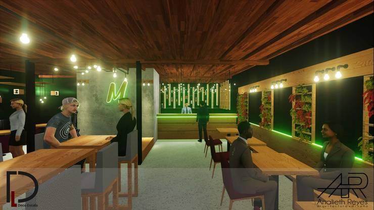 BARRA: Tiendas y espacios comerciales de estilo  por Analieth Reyes - Arquitectura y Diseño