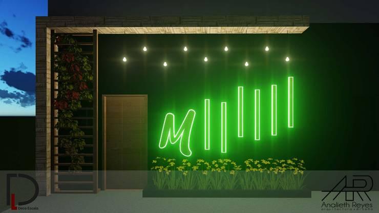 ACCESO : Puertas principales de estilo  por Analieth Reyes - Arquitectura y Diseño