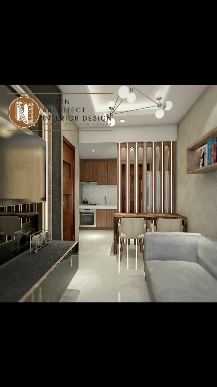 Livingroom signature park grande:  Ruang Keluarga by norenarchitecture