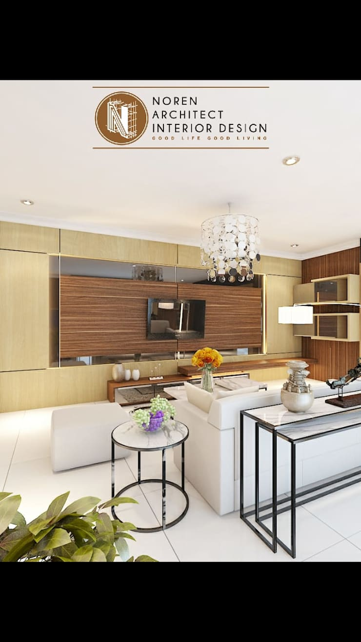 Livingroom private house:  Ruang Keluarga by norenarchitecture