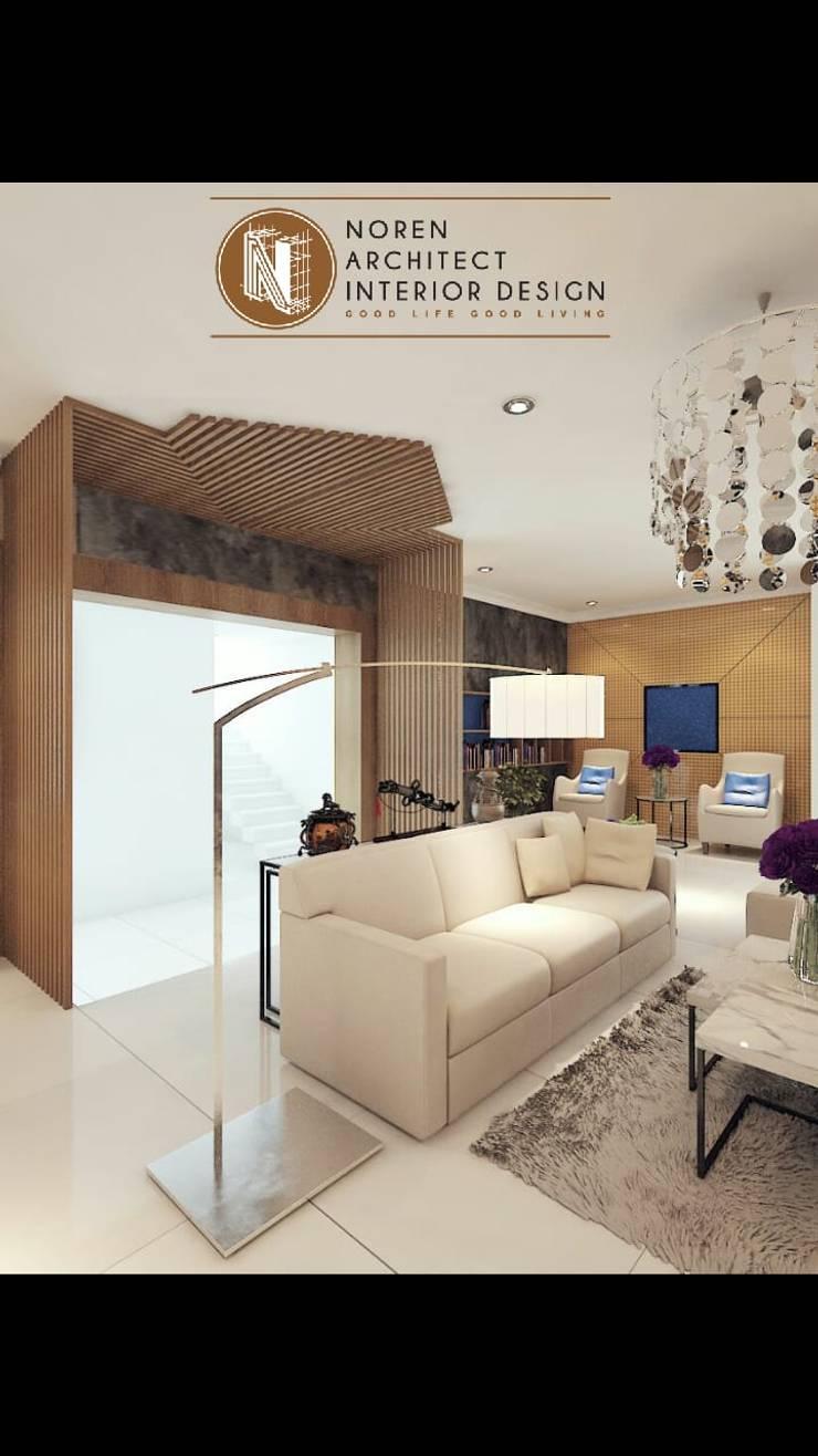 Livingroom privat house:  Ruang Keluarga by norenarchitecture