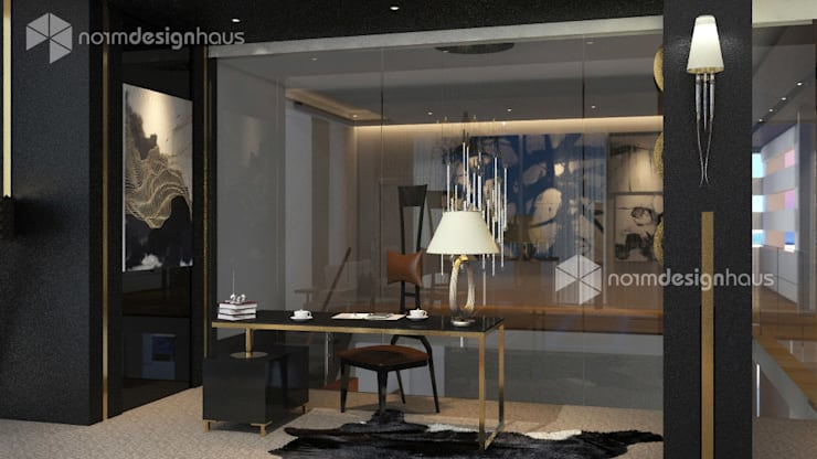 study table, interior design malaysia:  Bedroom by Norm designhaus