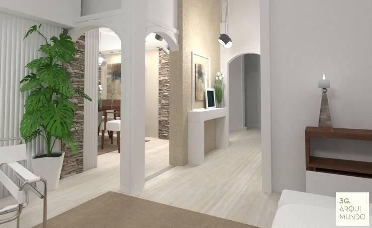 Corridor & hallway by Arquimundo 3g - Diseño de Interiores - Ciudad de Buenos Aires