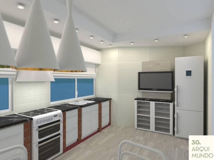 Kitchen units by Arquimundo 3g - Diseño de Interiores - Ciudad de Buenos Aires
