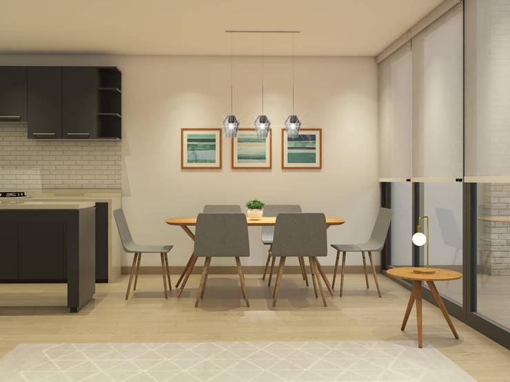Propuesta Comedor: Comedores de estilo  por MM Design