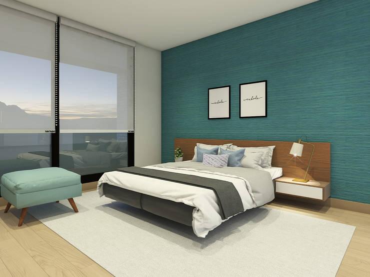 Propuesta para Habitacion Principal: Dormitorios de estilo  por MM Design