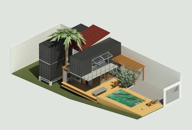 Fertighaus von Oria Arquitetura & Construções