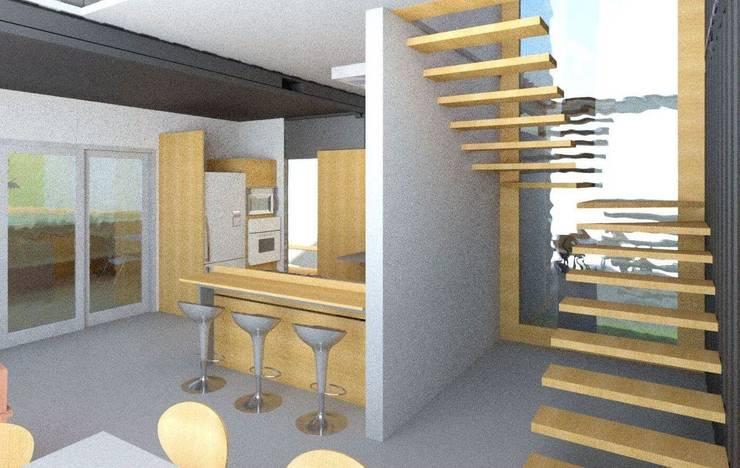 Küchenzeile von Oria Arquitetura & Construções